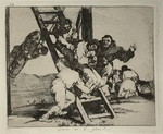 Duro es el Paso (Hard is the Way), from The Disasters of War by Fracisco Goya