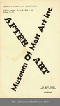 Catalogue of After Art Services, 1974 by Museum of Mott Art Inc.