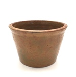 Redware Pudding Pot No. 325 by Maker Unknown
