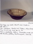 Redware Wash Bowl No. 244a