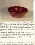 Redware Mixing Bowl No. 245
