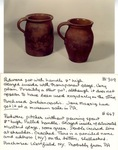 Redware Pitcher Without Pouring Spout No. 467