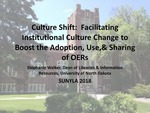 Culture Shift: Facilitating Institutional Culture Change to Boost the Adoption, Use, and Sharing of OERs by Stephanie R. Walker