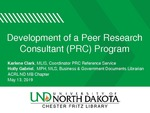 Development of the Chester Fritz Library (CFL) Peer Research Consultants Program by Karlene T. Clark and Holly Gabriel