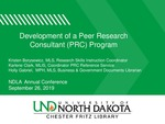 Development of a Peer Research Consultant (PRC) Program by Kristen Borysewicz, Karlene T. Clark, and Holly Gabriel
