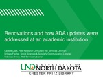 Renovations and how ADA updates were addressed at an academic institution