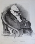 Gros, gras et … Constitutionnel. by Honoré Daumier