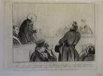 Messieurs, voici la vérité, je suis un petit voleur, mais Mr. Macaire en est un grand … by Honoré Daumier