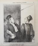 Je vais bien arranger votre client! by Honoré Daumier