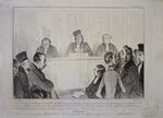 La cour ordonne que le cheval et le cabriolet de Robert-macaire … by Honoré Daumier