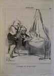 Décidément elle est bien malade! by Honoré Daumier