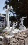 View of Statues in Yard by James Smith Pierce