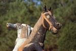 Andrew Jackson and Samuel Houston Memorial Detail, Broken Figure on Horseback by James Smith Pierce