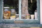 Windowsill Covered in Snakes in Jars by James Smith Pierce