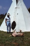 St. EOM with Dog and Tipi by James Smith Pierce