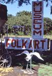 Folk Art Museum Sign and Bird Sculpture by James Smith Pierce