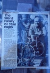 """Newspaper Article """"The Silent Family of Stan Papio"""" by James Smith Pierce"""