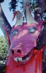 Pig Sculpture Closeup by James Smith Pierce