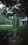 Front View of Double Sided Crucifix, facing house, close up by James Smith Pierce