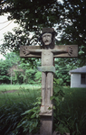 Front view of Double Sided Crucifix, from the road, close up by James Smith Pierce