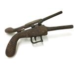 Cast Iron Toy Gun by Maker Unknown