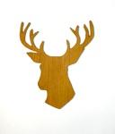 Wooden Deer Cutout by Evan Decker