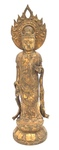 Japanese Gilt-Bronze Figure of Kuan Yin by Artist Unknown