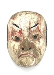 Painted Japanese Theatrical Mask by Artist Unknown