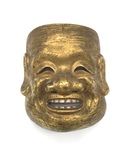 Brass Chinese Theatrical Mask by Artist Unknown