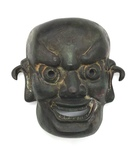 Iron Chinese Theatrical Mask by Artist Unknown