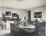 Photo Panel of Black Lacquer Hangings displayed in the dining room of Chester Fritz's Shanghai home by Artist Unknown