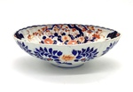 Japanese Imari Style Porcelain Oval Bowl by Artist Unknown