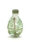 Pale-Green Overlay Peking Glass Chinese Snuff Bottle by Artist Unknown