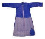 Erickson's Padded Blue Silk Gown by Artist Unknown