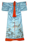 Long Light Blue Decorated Gown by Artist Unknown