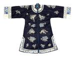 Dark Blue Silk Matron's Jacket by Artist Unknown
