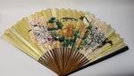 East Asian Landscape Painted Handheld Folding Fan by Maker Unknown