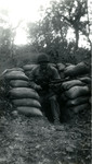 164th Infantry Soldier Emerging from a Bunker