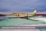 1980 Cessna Citation II Jet Aircraft For Weather Research by University of North Dakota