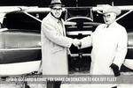 John D. Odegard & Ernie Fox Shake On Donation To Kick Off Fleet by University of North Dakota