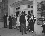 Students and Faculty Wait for the Doors to Open