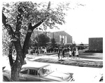 The Line Outside the Fieldhouse for Seats