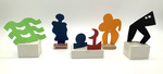 """""""Group A"""" Collection of 5 Small Maquettes by James Smith Pierce"""