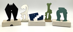 """""""Group E"""" Collection of 5 Small Maquettes by James Smith Pierce"""