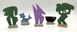 """""""Group F"""" Collection of 5 Small Maquettes by James Smith Pierce"""