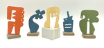 """""""Group J"""" Collection of 5 Small Maquettes by James Smith Pierce"""