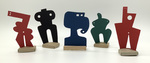 """""""Group L"""" Collection of 5 Small Maquettes by James Smith Pierce"""