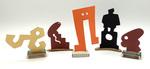 """""""Group N"""" Collection of 5 Small Maquettes by James Smith Pierce"""