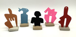 """""""Group O"""" Collection of 5 Small Maquettes by James Smith Pierce"""