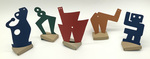 """""""Group P"""" Collection of 5 Small Maquettes by James Smith Pierce"""